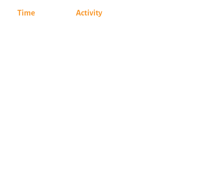 Day One Schedule