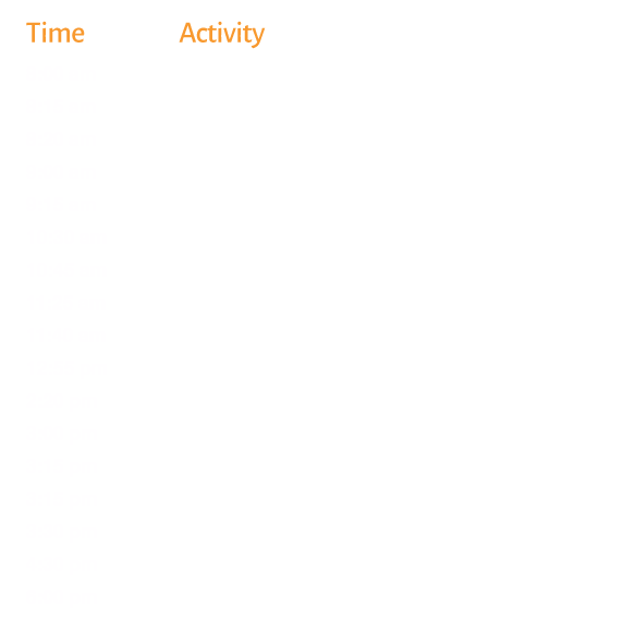 Day Two Schedule